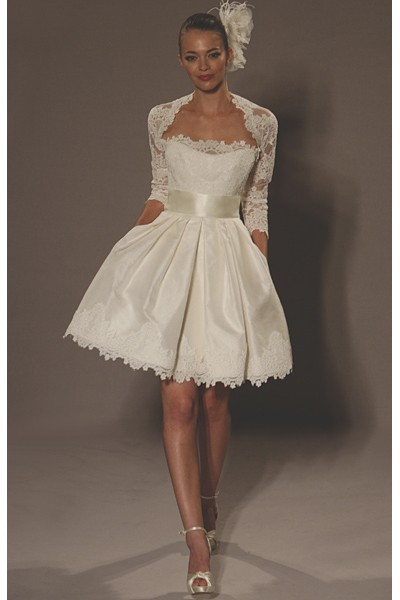 Little white dress renewing our vows part 1 for Short wedding dresses 2012